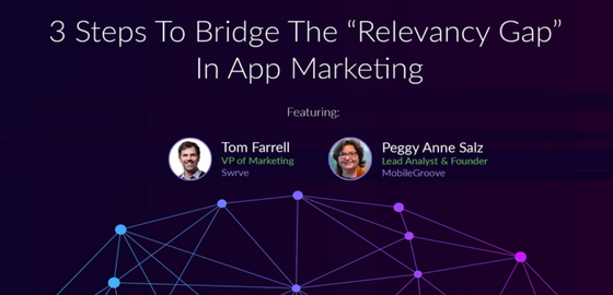 Image of Tom Farrell vp of Marketing swrve and Peggy Anne Salz lead analyst & founder MobileGroove.