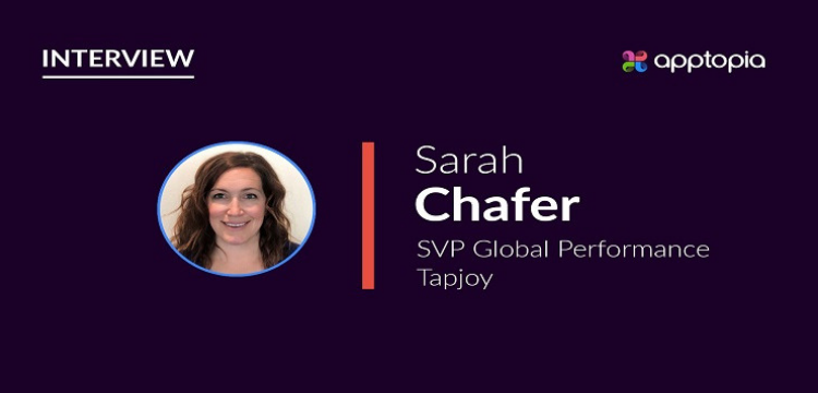 Image Sarah Chafer, SVP Global Performance, Tapjoy