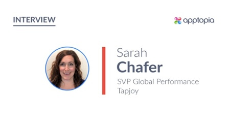 Photo of Sarah Chafer, SVP Global Performance, Tapjoy
