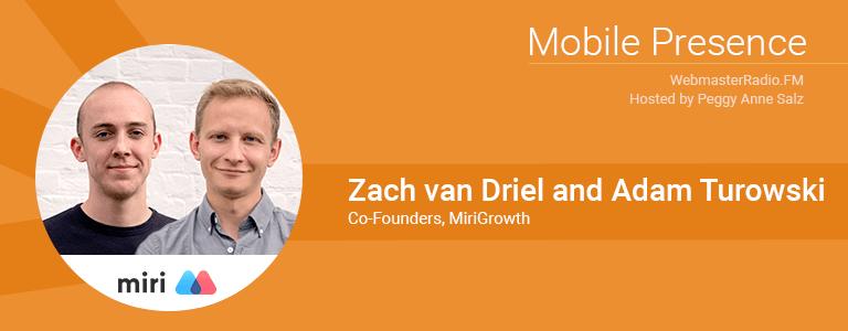 Image of Adam Turowski and Zach van Driel from MiriGrowth