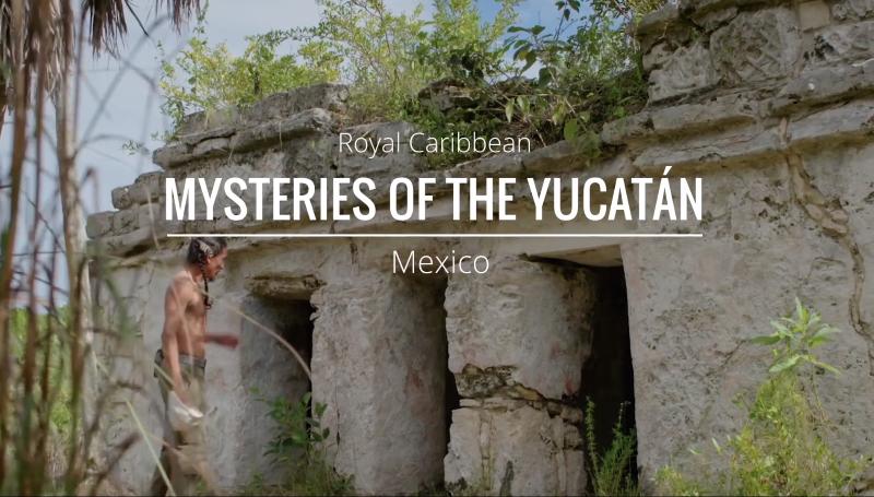 Mayan entering ruins