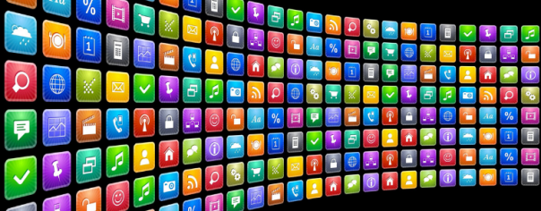 Image of wall of app icons